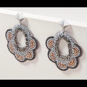 Stella & Dot Dove Earrings - Grey